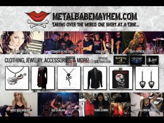 Unique Guitar Straps - Metal Babe Mayhem